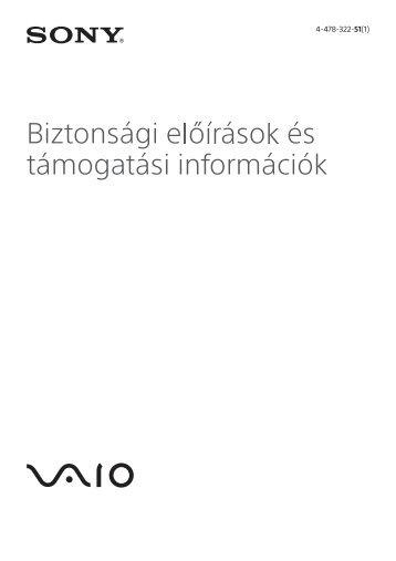 Sony SVP1321V9R - SVP1321V9R Documents de garantie Hongrois