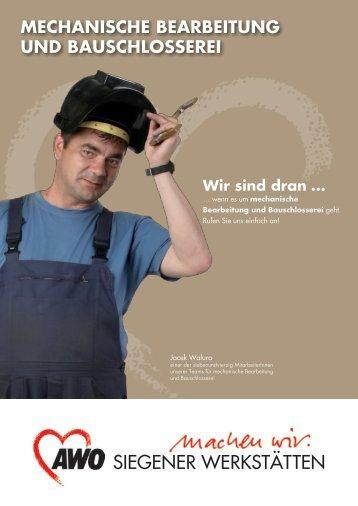 Mechanische Bearbeitung und Bauschlosserei - AWO Kreisverband ...