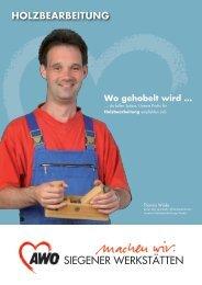Holzbearbeitung - AWO Kreisverband Siegen-Wittgenstein/Olpe