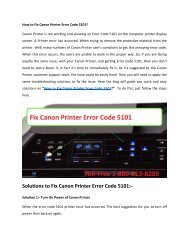 How to Fix Canon Printer Error Code 5101 Call 1-800-213-8289