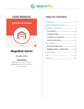 Magento 2 Admin Mobile App