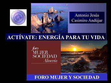 Activate, energía para tu vida (Foro sociedad y mujer)