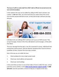 The issue of unfit to send email from AT&T email 1-888-664-3555 support number