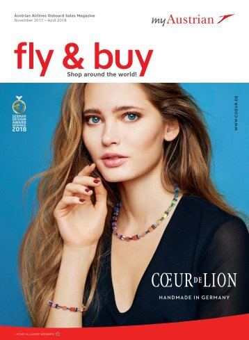 Austrian Airlines Onboard Sales Magazine, November 2017 - April 2018