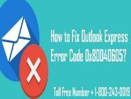 18002430019 How to Fix Outlook Express Error Code 0x80040605?