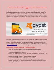 What Are The Steps Of Installing The Standalone Version Of The Avast Secure?