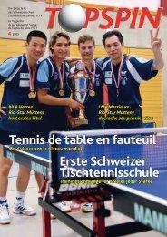 Erste Schweizer Tischtennisschule Tennis de table en fauteuil