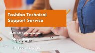 Toshiba Technical Support Number