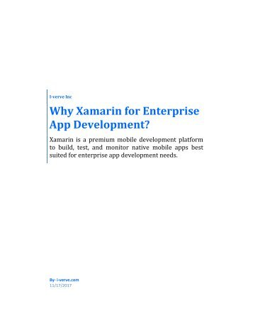 Why startup choose xamarin as their apps development platform?
