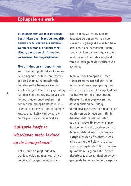 epilepsie en werk