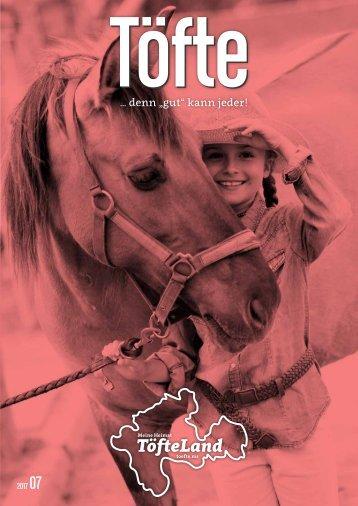 Töfte Regionsmagazin 07/2017 - Pferde & Reiter