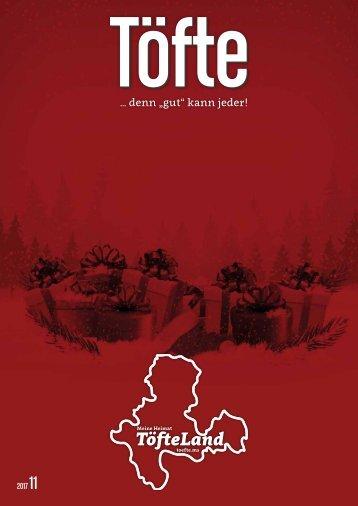 Töfte Regionsmagazin 11/2017 - Weihnachten