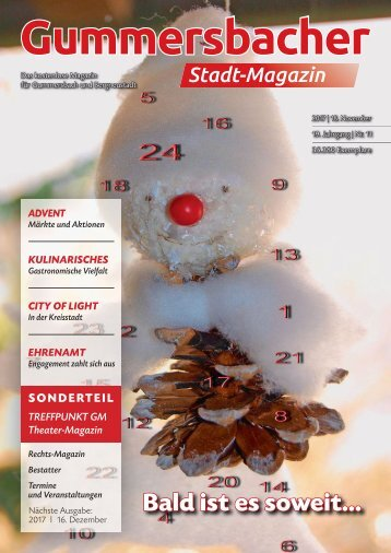 Gummersbacher Stadtmagazin November 2017
