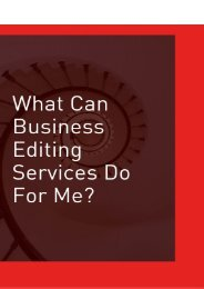 What Can Business Editing Services Do for Me?