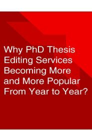 Why PhD Thesis Editing Services Becoming More and More Popular From Year to Year?