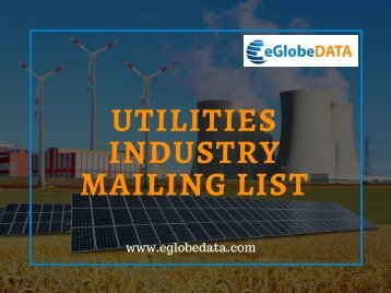 Utilities Industry Mailing List