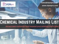 Chemical Industry Mailing List   Chemical Industry Mailing Database