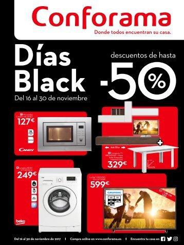 Folleto Conforama Días Black grandes descuentos hasta -50%