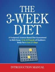 The 3 Week Diet - Introduction Manual