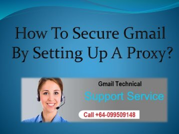 How To Secure Gmail By Setting Up A Proxy?