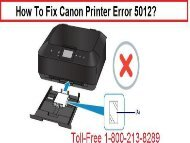 How To Fix Canon Printer Error 5012 Call 1-800-213-8289