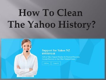 How to Clean The Yahoo History?