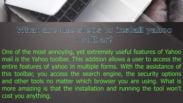 What are the steps to install yahoo toolbar?