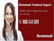 18002430019 Rocketmail Technical Support Number  For Help