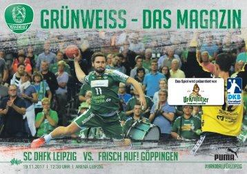 DHfK-Spieltagsheft SC DHfK vs. Frisch Auf! Göppingen