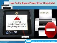 How To Fix Epson Printer Error Code 0xfa