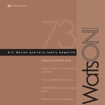73 watsON cover - A.S. Watson