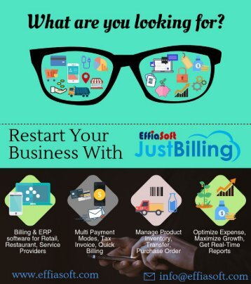 All in one Billing, Inventory and accounting pos app for Retail, Restaurant and Small business.