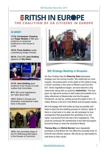British in Europe Newsletter