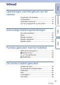 Sony NEX-5ND - NEX-5ND Consignes d'utilisation Néerlandais - Page 3