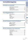 Sony NEX-5ND - NEX-5ND Consignes d'utilisation Norvégien - Page 3