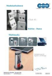 Modulaufnahmen Click 45 Multimedia Telefon - Daten