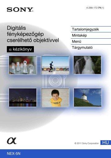 Sony NEX-5ND - NEX-5ND Consignes d'utilisation Hongrois