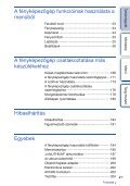 Sony NEX-5ND - NEX-5ND Consignes d'utilisation Hongrois - Page 4