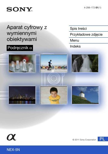 Sony NEX-5ND - NEX-5ND Consignes d'utilisation Polonais