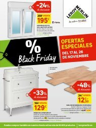 Folleto LEROY MERLIN BLACK FRIDAY hasta 26 de Noviembre 2017