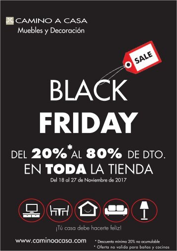 Folleto caminoacasa BLACK FRIDAY del 18 al 27 de Noviembre 2017