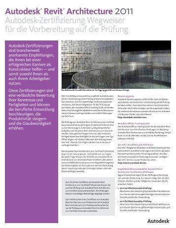 Autodesk® Revit® Architecture 2011 Autodesk-Zertifizierung ...