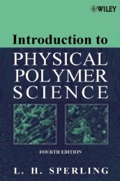 Introduction To Physical Polymer Science, 4Th Edn (L H Sperling, Wiley 2006