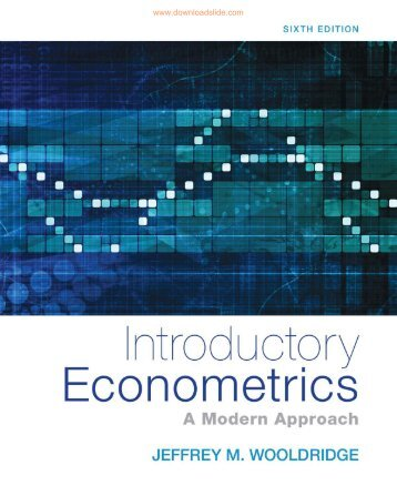 Introductory Econometrics A Modern Approach 6th ed