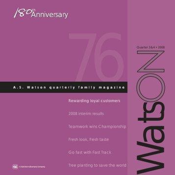 76 watsON cover - A.S. Watson