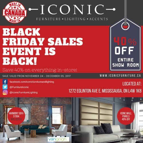 Black Friday Flyer 2018, Furniture Black Friday Canada