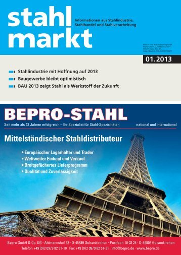 stahlmarkt 01.2013 (Januar)