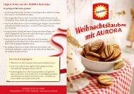 Tipps & Tricks aus der AURORA Backstube