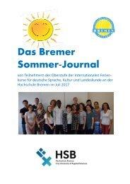HSB-International Summer School / Bremer Sommer-Journal 2017