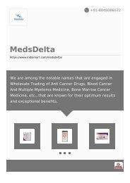 Medsdelta : Cancer Medicine Wholesale , Hepatitis Drugs Supplier